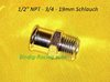 1/2 NPT Chrom Fitting 19mm Schlauch