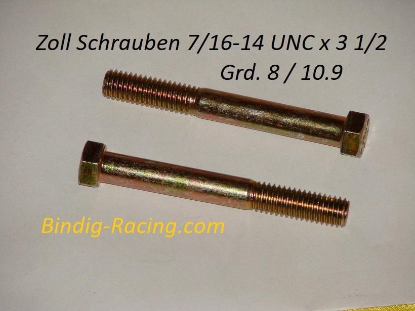 Sechskantschraube 7//16-20 UNF x 3 1//2 Grd.8 gelb verzinkt Hex Head Cap Screw